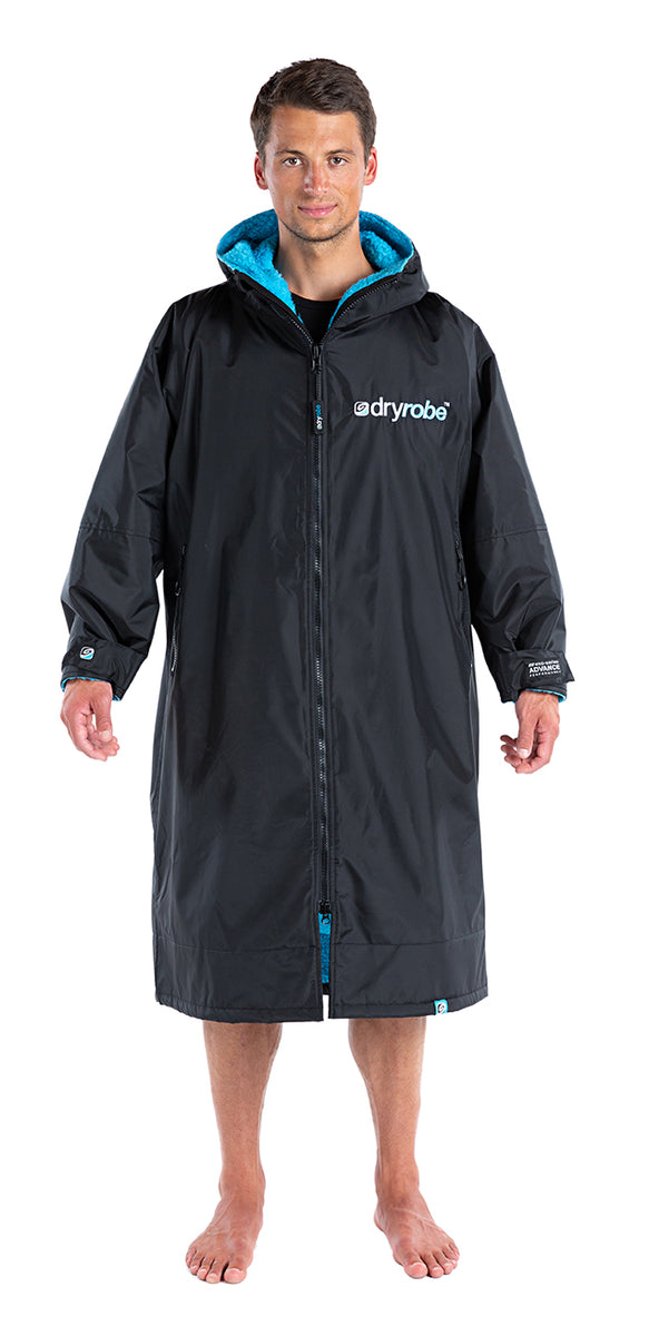 1|S, dryrobe Advance Long Sleeve Small Black Blue Front Male