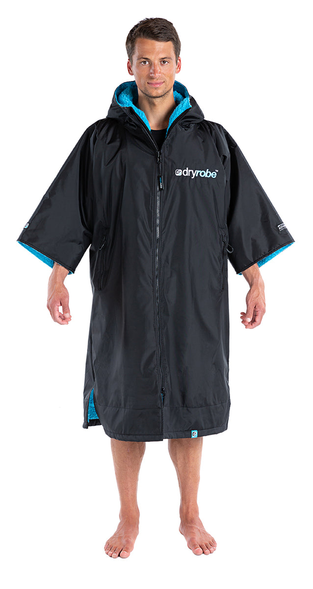 1|S, dryrobe Advance Short Sleeve Small Black Blue Front Male