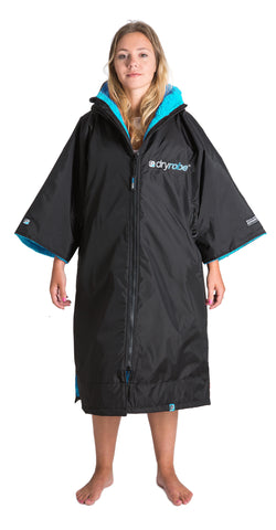 1|M, dryrobe Advance Short Sleeve Medium Black Blue