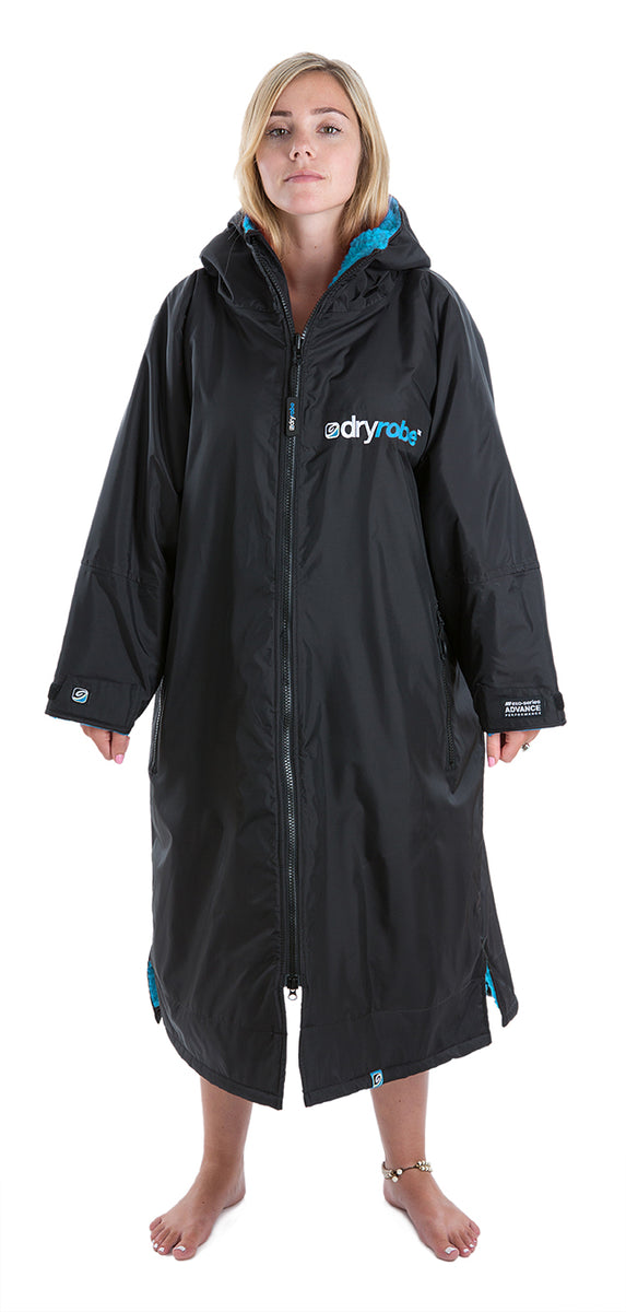1|M, dryrobe Advance Long Sleeve Medium Adult Black Blue