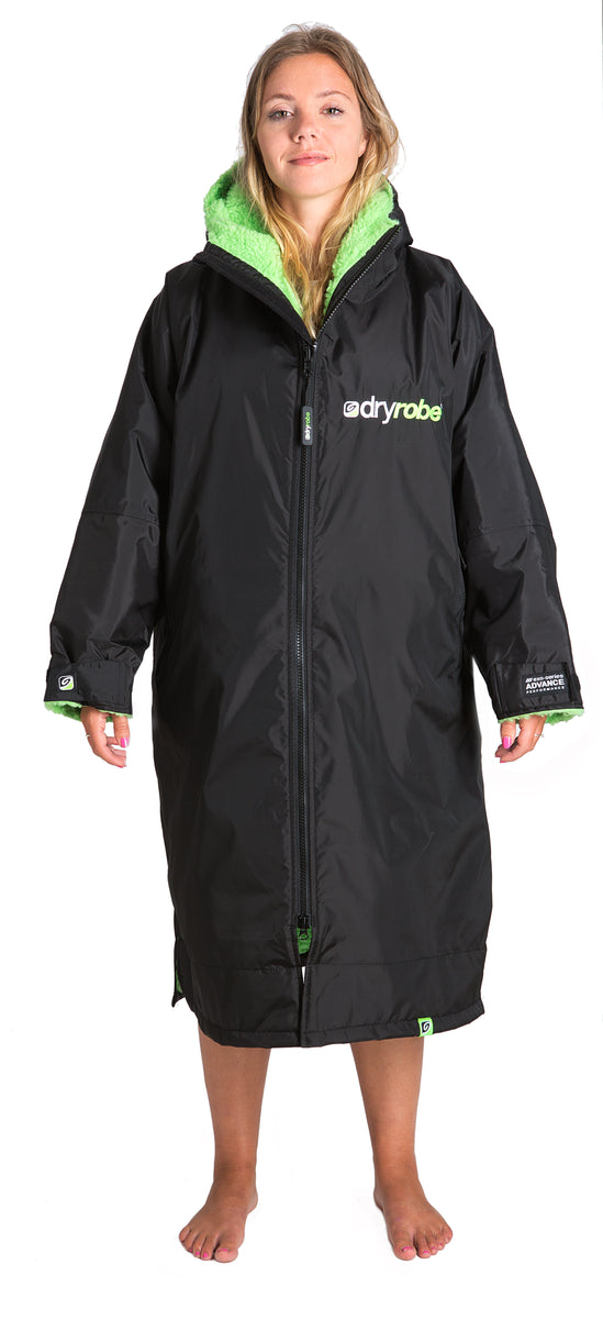 1|M, dryrobe Advance Long Sleeve Medium Black Green back