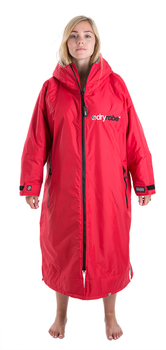 1|M, dryrobe Advance Long Sleeve Medium Red Grey