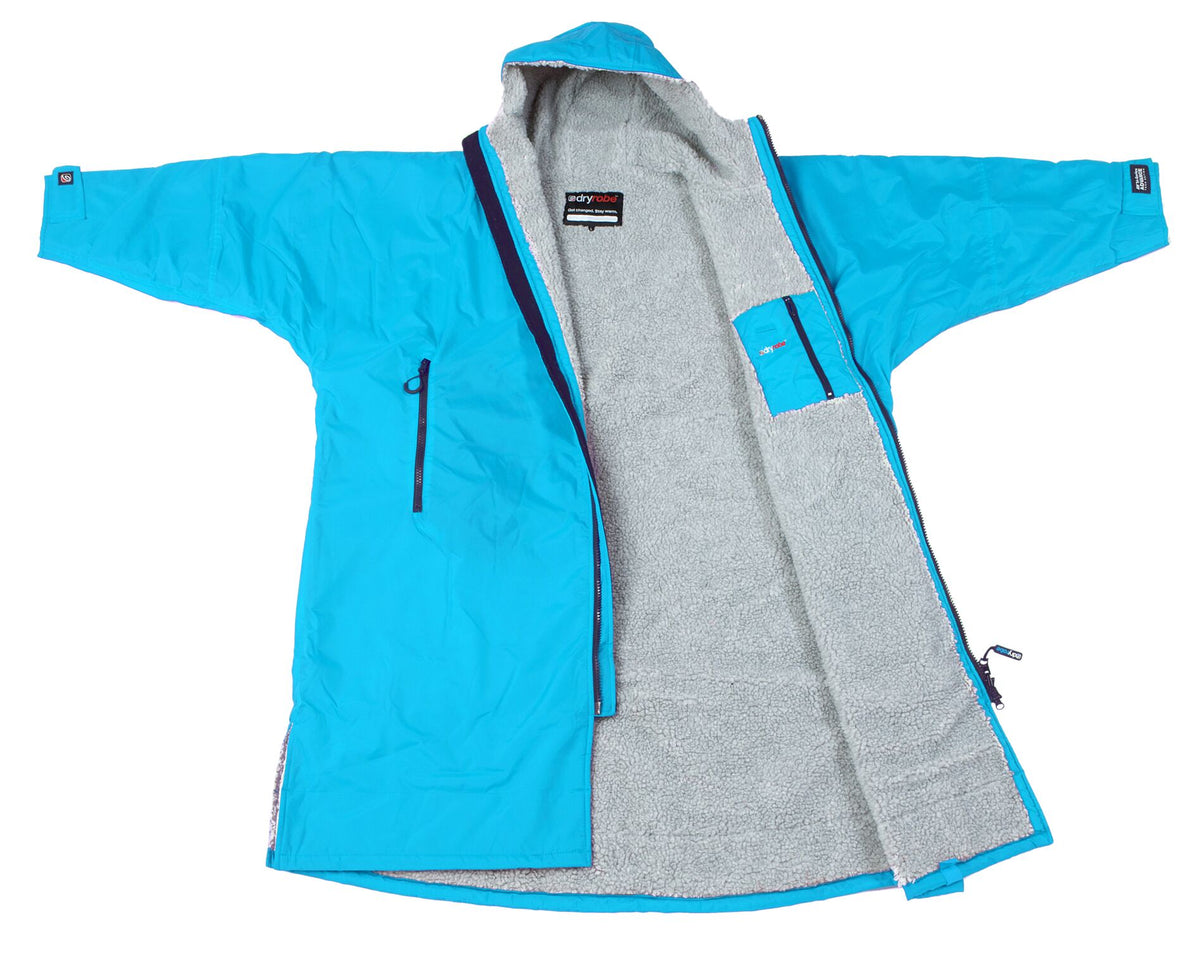 1|S,M,L,XL, dryrobe Advance Long Sleeve Large Sky Blue Grey Open
