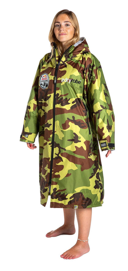 1|M,L, dryrobe Advance long sleeve Large Red Bull Hardline dryrobe