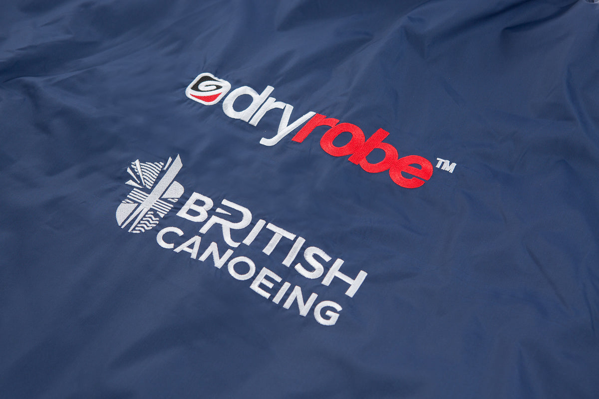 1|M,L, dryrobe Advance Short Sleeve British Canoeing Back Logos