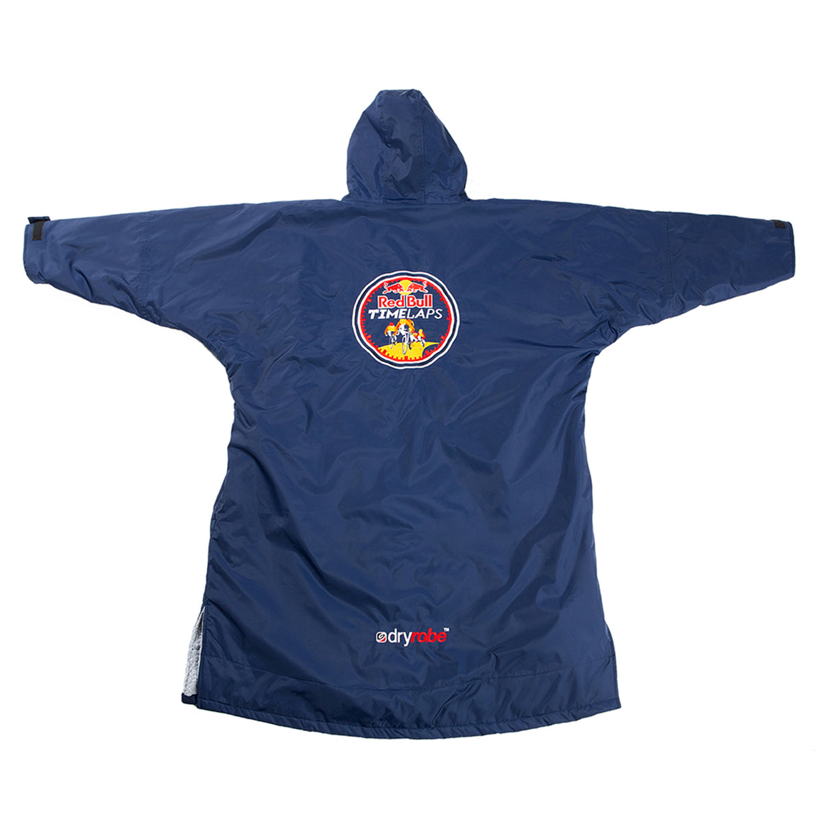 1|M,L, dryrobe Advance long sleeve Large Red Bull Time Laps dryrobe Full Back