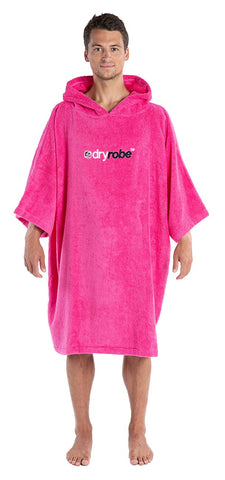 1|M, Adult Pink towel robe Male Front