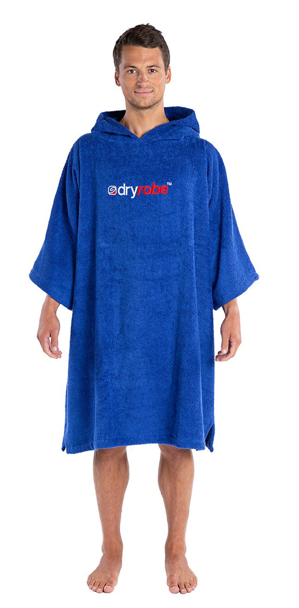 1|M, Adult organic towelling robe change robe Royal Blue Male