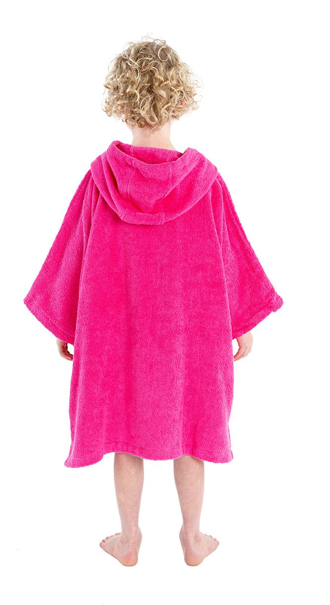 1|XS, Kids Organic Cottom Towel dryrobe Pink Front