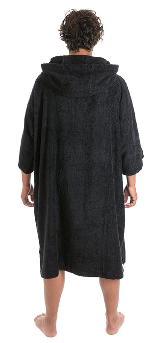 Mens Towel dryrobe Black Back