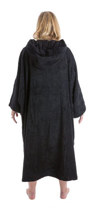 Womens Towel dryrobe Black Back