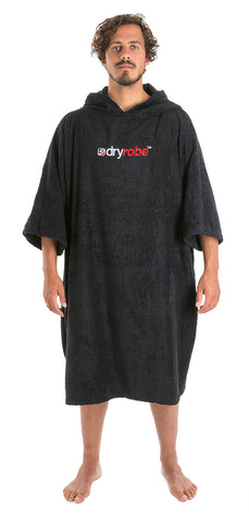 Mens Towel dryrobe Black Front