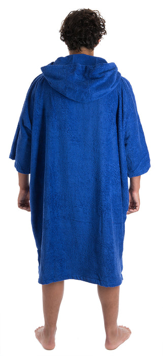 Mens towel dryrobe Royal Blue Back