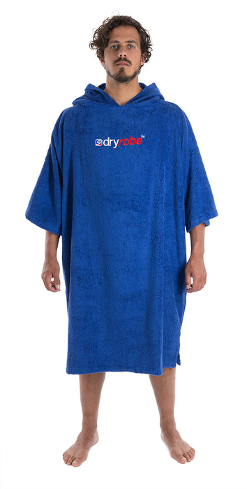 Mens towel dryrobe Royal Blue Front
