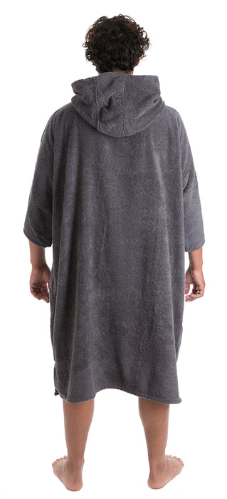 Mens towel dryrobe Slate Grey Back