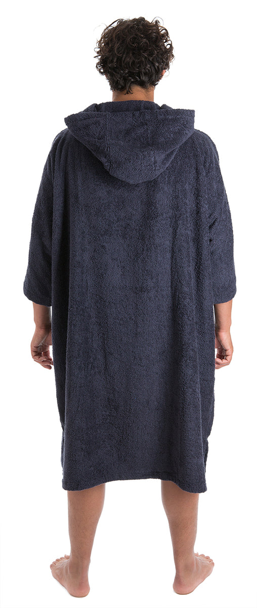 1|L, Mens Towel dryrobe Navy Blue Back