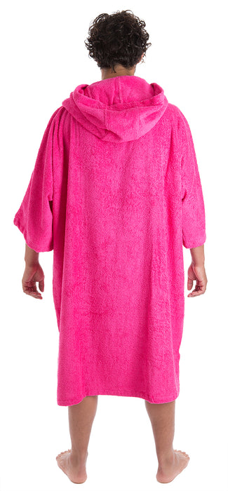 Mens Towel dryrobe Pink Back