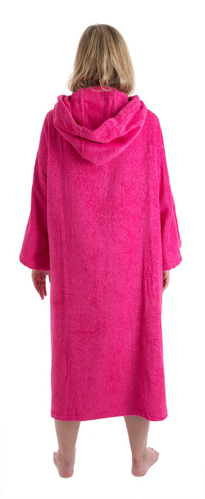 Womens Towel dryrobe Pink Back