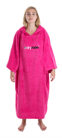 Womens Towel dryrobe Pink Front
