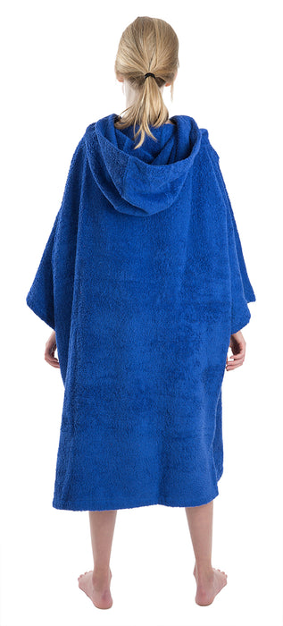 Medium towel dryrobe Royal Blue Back