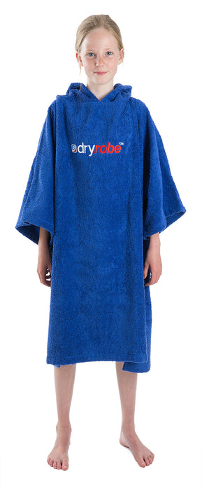 Medium towel dryrobe Royal Blue Front
