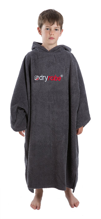 Medium towel dryrobe Slate Grey Front
