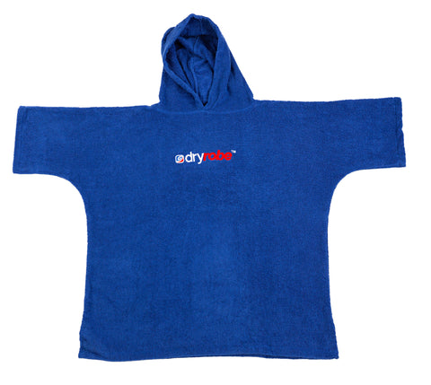 1|XS, Kids Organic Cotton Towel dryrobe Blue Front Boy