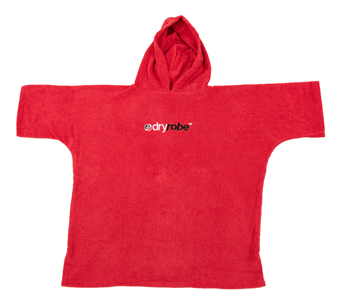 XS,S, Kids Organic Cotton Towel dryrobe Red Flat