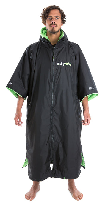 dryrobe Advance Short Sleeve Extra Large Black Green Front