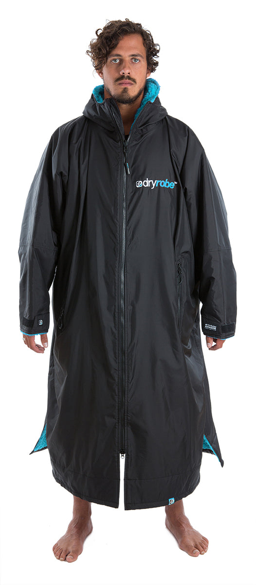 XL, dryrobe Advance Long Sleeve X-Large Black Blue