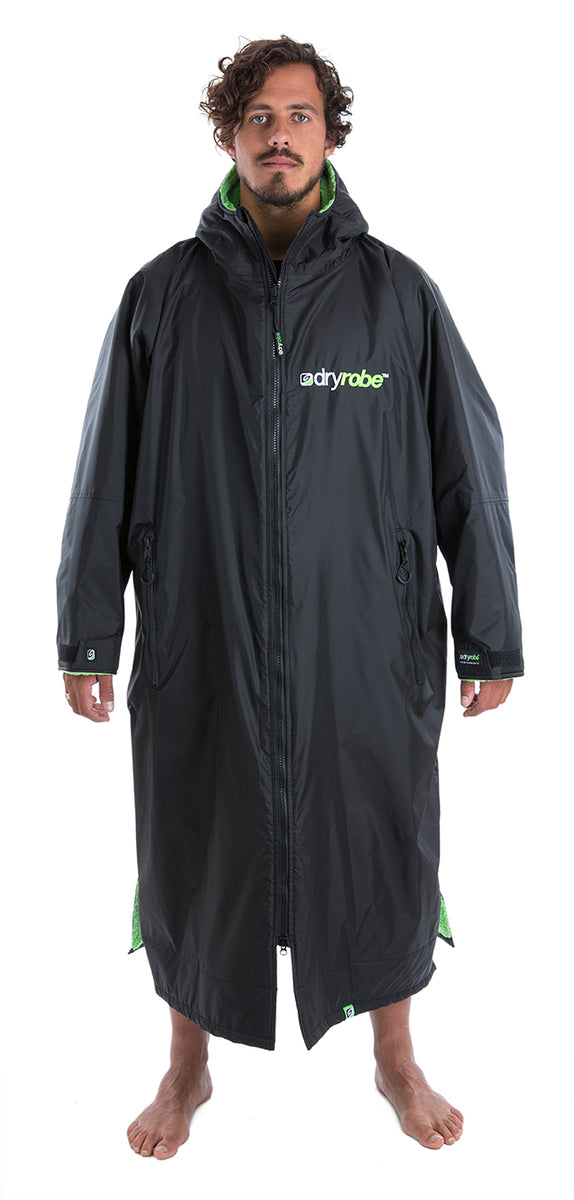 XL, dryrobe Advance Long Sleeve Extra Large Black Green
