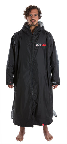 XL, dryrobe advance long sleeve extra large black grey front