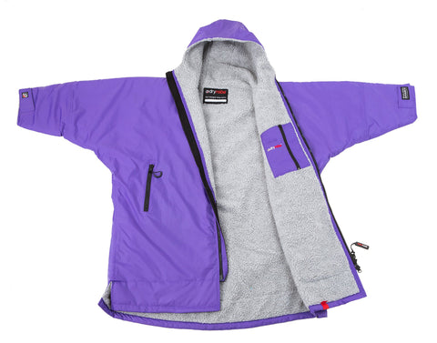 1|S, Kids dryrobe Advance Long Sleeve Purple Grey Front
