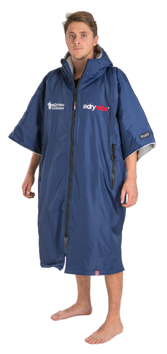 L, dryrobe Advance Short Sleeve Large British Canoeing Male Model Side