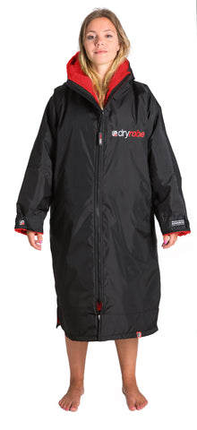1|M, dryrobe Advance Long Sleeve Black Red Medium Front