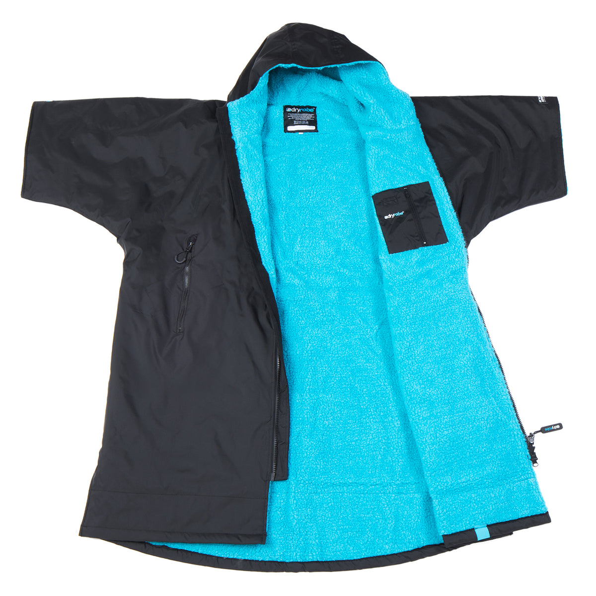 1|XS,S,M,L,XL, dryrobe Advance Short Sleeve Black Blue