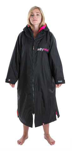 1|M, dryrobe Advance Long Sleeve Medium Black Pink
