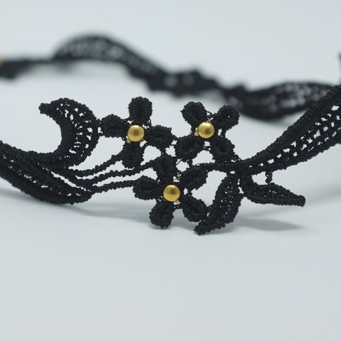 Black and Gold Lace Flower