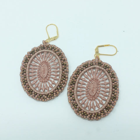 Beige Casual Earrings