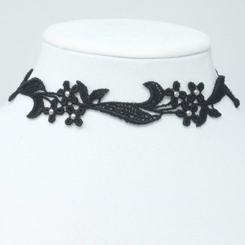 Black Choker with Silver studs