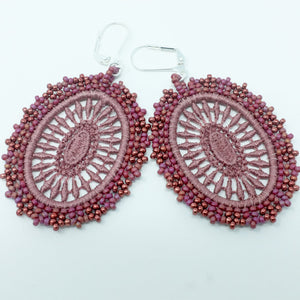 Blush Pink Lace Earrings