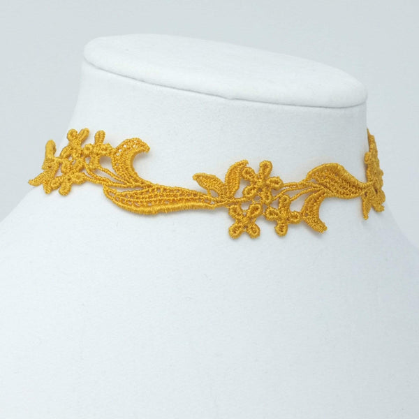 Embroidered Flower Choker - Yatys Boutique