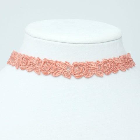 Embroidered Choker Necklace - Yatys Boutique