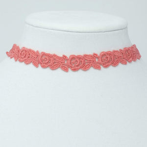 Floral Lace Choker with Roses - Yatys Boutique