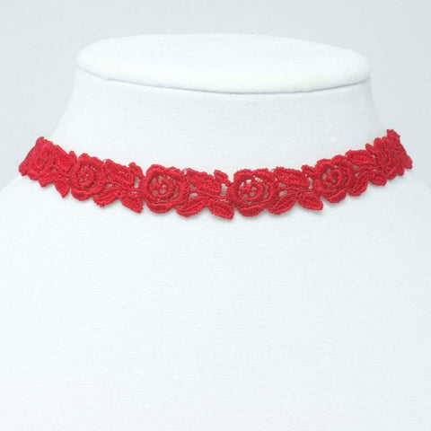 Sexy Floral Lace Choker Necklace - Yatys Boutique