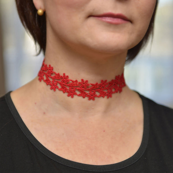 Red Wide Choker