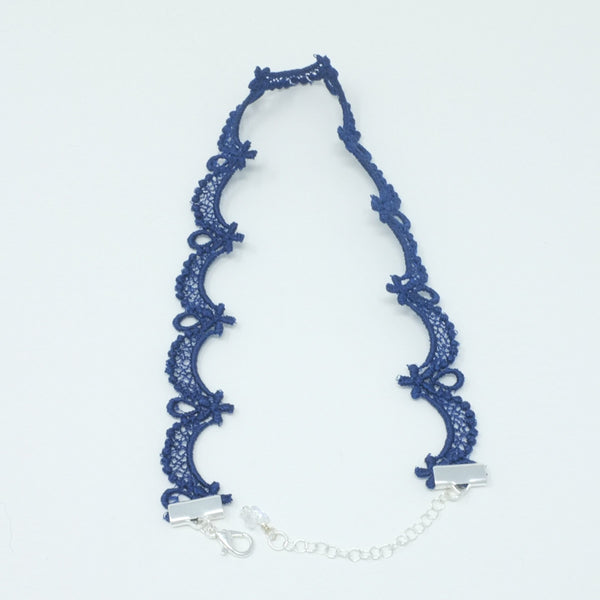 Blue Thin Choker Necklace