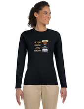 Load image into Gallery viewer, Ladies Burrito Long Sleeve T-shirt - You Know!