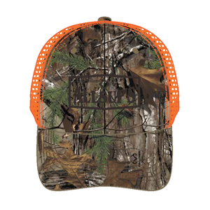 Structured Realtree Camo Hat with Velcro Closure and Mesh