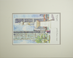 Watercolour Prints | Raffles Landing, Singapore, Derek Corke Prints, Tango Mango